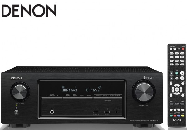 Denon AVR-X1400H 7.2 channel AV Receiver with built-in HEOS technology | Black