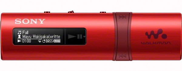 Sony NWZ-B183 Walkman with Built-in USB - Red