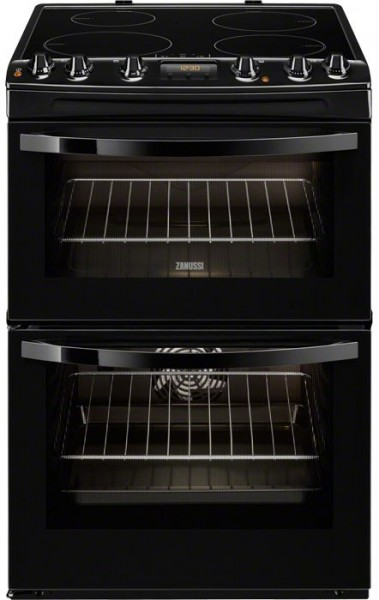 Zanussi ZCI68300BA 60cm Wide Double Cavity Cooker with Induction Hob | Black