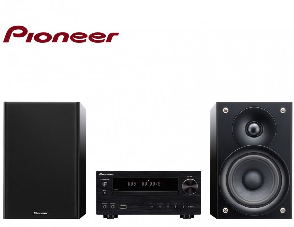 Pioneer X-HM51K Micro HiFi System with CD USB Bluetooth and iPhone 5 Direct Connection