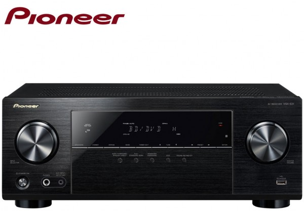 Pioneer VSX-531 5.1 Channel AV Receiver with 5x130 Watt 4 HDMI ports Bluetooth and USB | Black