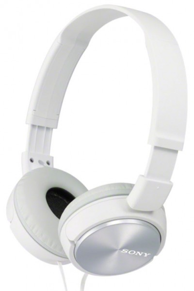 Sony MDR-ZX310W Headphones with lightweight folding design | White