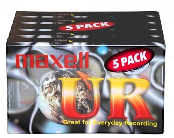 Maxell UR905P 5x Pack 90 Minute Cassette Tapes