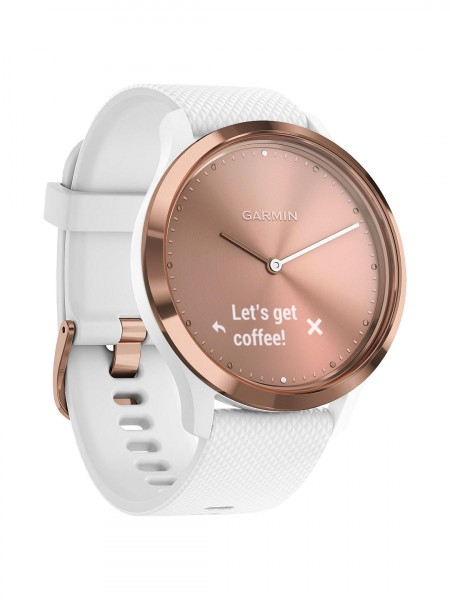 Garmin Vivomove HR Sport Smartwatch Small/Medium | Rose Gold/White