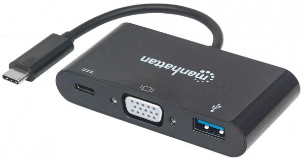 Manhattan 152044 SuperSpeed USB-C to VGA Full HD Docking Converter