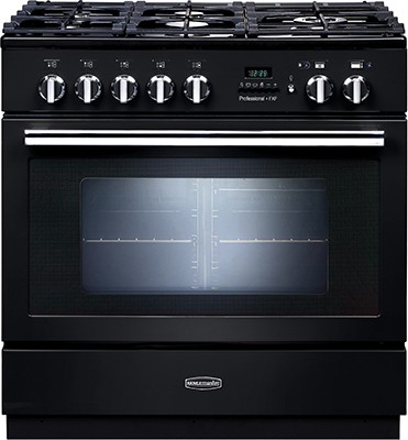 Rangemaster Professional Plus FXP 90DF Black 92730 Dual Fuel Range Cooker