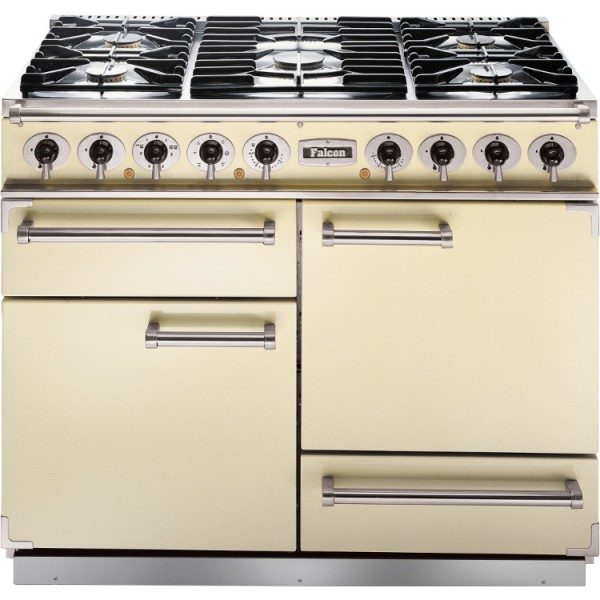 Falcon 1092 DX DF Cream Chrome 76850 Dual Fuel Range Cooker