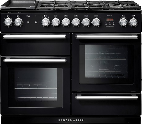 Rangemaster Nexus 110DF Black 104850 Dual Fuel Range Cooker