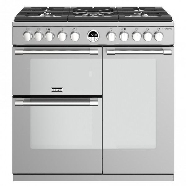 Stoves Sterling S900DF SS Dual Fuel Range Cooker