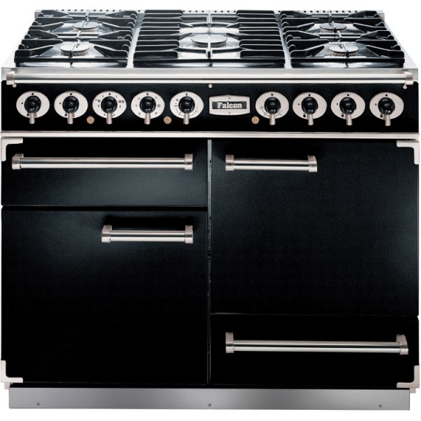 Falcon 1092 DX DF Black Chrome 76860 Dual Fuel Range Cooker