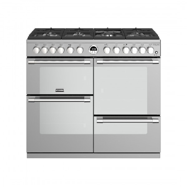 Stoves Sterling Deluxe S1000DF SS Dual Fuel Range Cooker