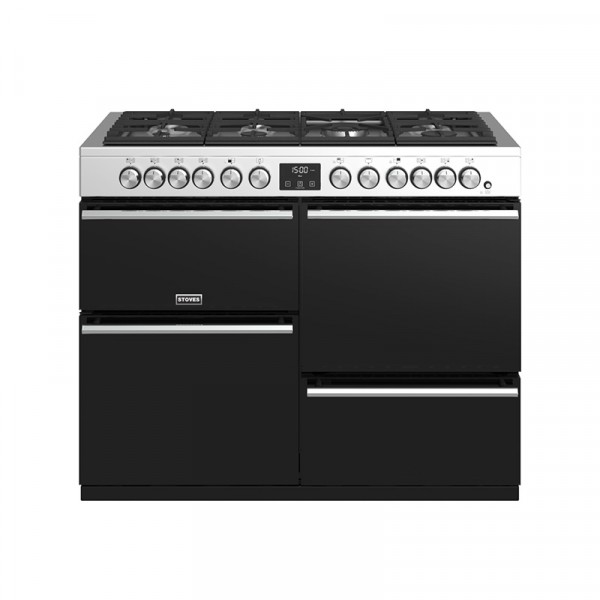 Stoves Precision Deluxe S1100DF SS Dual Fuel Range Cooker