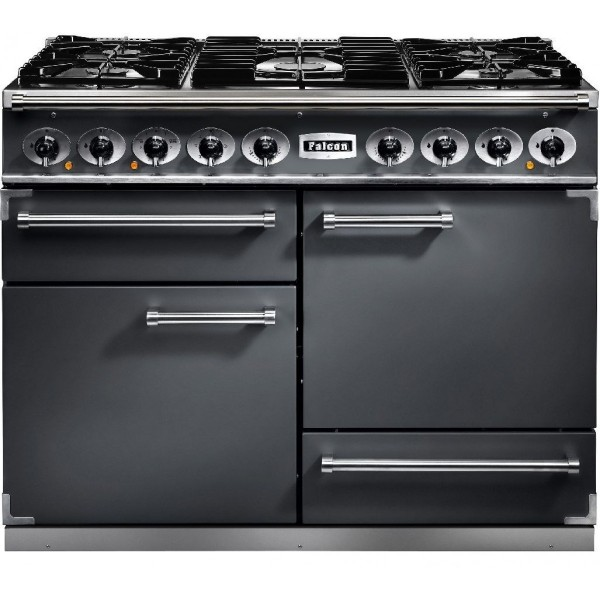 Falcon 1092 DX DF Slate Nickel 102240 Dual Fuel Range Cooker