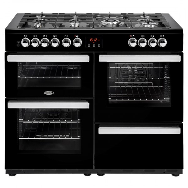 Belling Cookcentre 110Dft Blk Dual Fuel Range Cooker