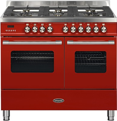 Britannia RC-10TG-DE-RED Dual Fuel Range Cooker