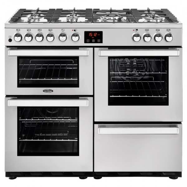 Belling Cookcentre 100Dft SS Professional Dual Fuel Range Cooker