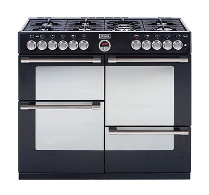 Stoves Sterling R1100DFT Blk Dual Fuel Range Cooker