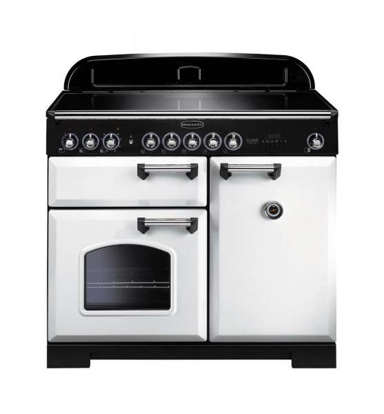 Rangemaster Classic Deluxe 100IND White 114030 Electric Range Cooker