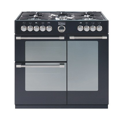 Stoves Sterling 900DFT Blk Dual Fuel Range Cooker