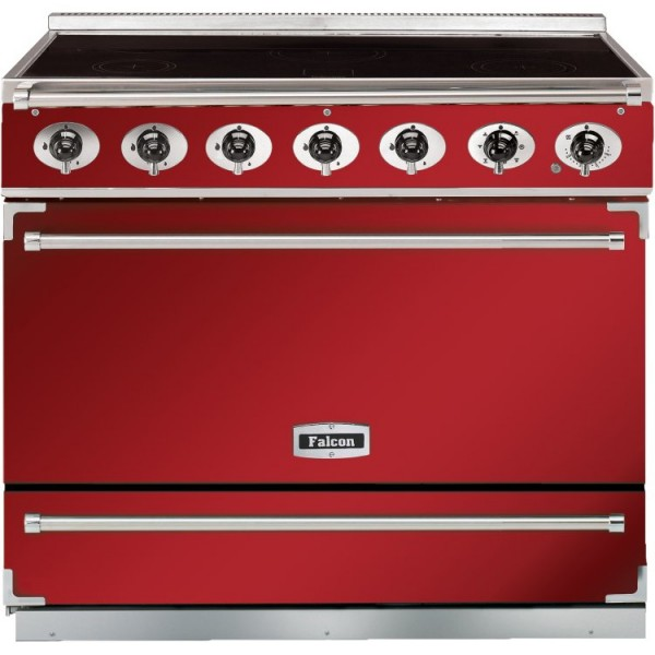 Falcon 900S IND Cherry Red Nickel 90070 Electric Range Cooker