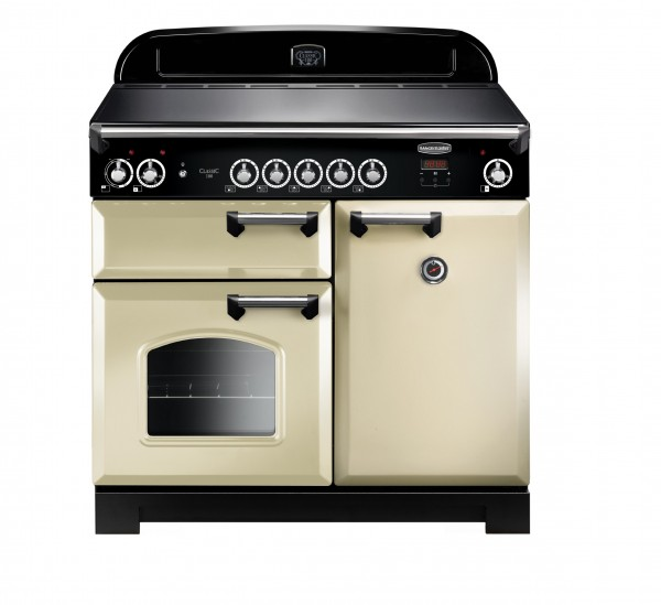 Rangemaster Classic 100IND Cream Chrome 117130 Electric Range Cooker