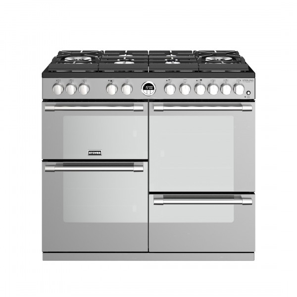 Stoves Sterling Deluxe S1000DF GTG SS Dual Fuel Range Cooker