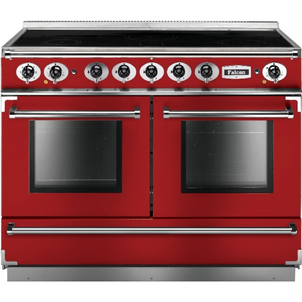Falcon Continental 1092 IND Cherry Red Nickel 87180 Electric Range Cooker