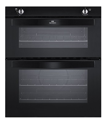 New World NW701G BLK Double Oven Gas