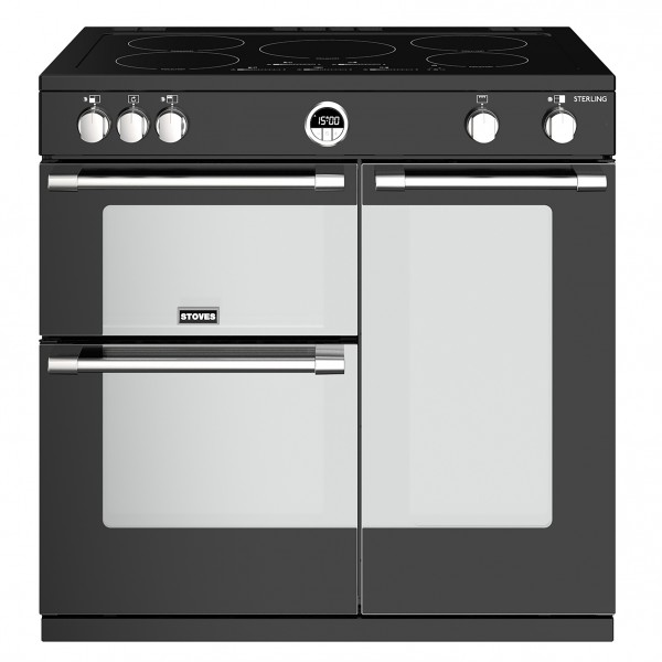 Stoves Sterling S900E i Black Electric Range Cooker