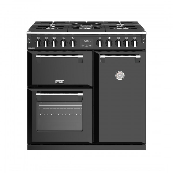 Stoves Richmond S900DF Black Dual Fuel Range Cooker