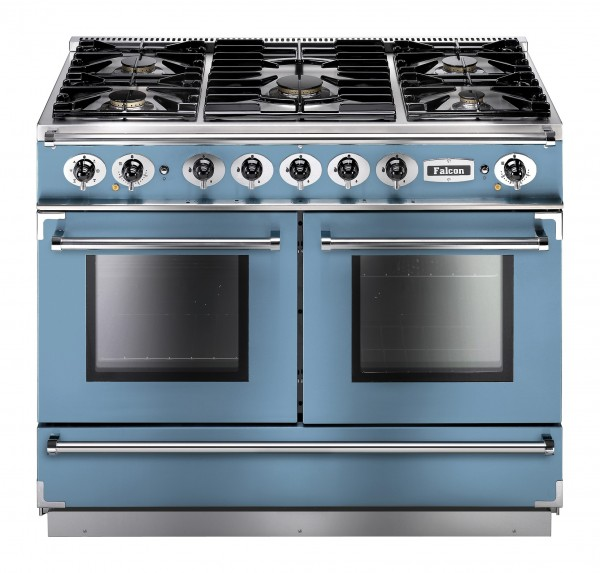 Falcon Continental 1092 DF China Blue Nickel 79540 Dual Fuel Range Cooker