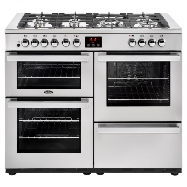 Belling Cookcentre 110Dft SS Professional Dual Fuel Range Cooker