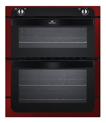 New World NW701DO MET RED Double Oven Electric