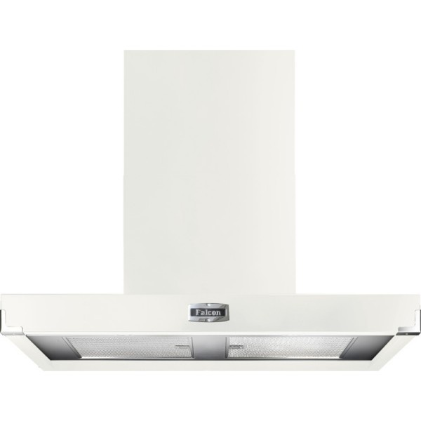 Falcon 1090 Contemporary White Nickel 91050 Cooker Hood