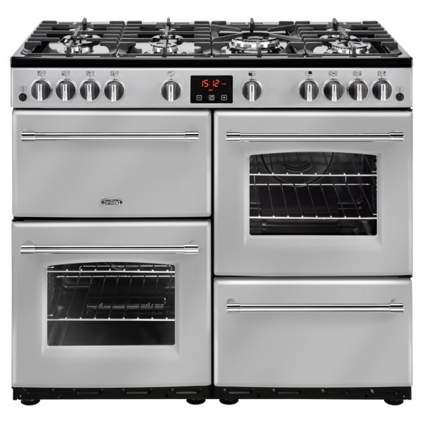 Belling Farmhouse 100G Sil Gas Range Cooker