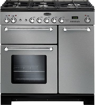 Rangemaster Kitchener 90DF SS 98760 Dual Fuel Range Cooker