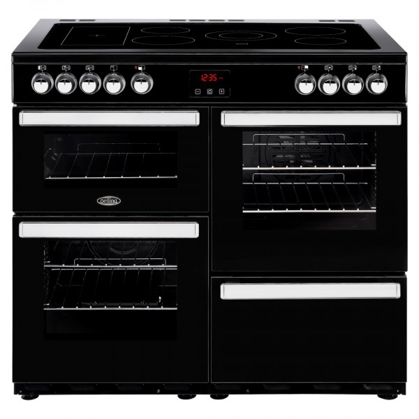 Belling Cookcentre 100E Blk Electric Range Cooker