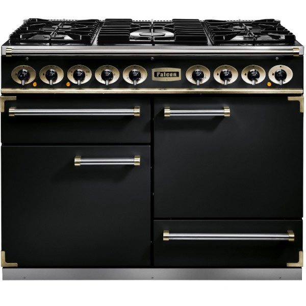 Falcon 1092 DX DF Black Brass 76810 Dual Fuel Range Cooker