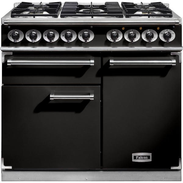 Falcon 1000 DX DF Black Chrome 98600 Dual Fuel Range Cooker