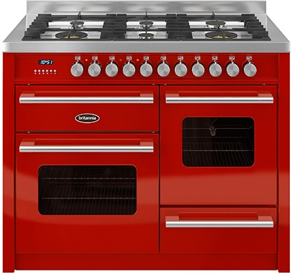 Britannia RC-11XGG-DE-RED Dual Fuel Range Cooker