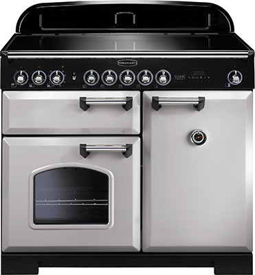 Rangemaster Classic Deluxe 100IND Royal Pearl 100640 Electric Range Cooker