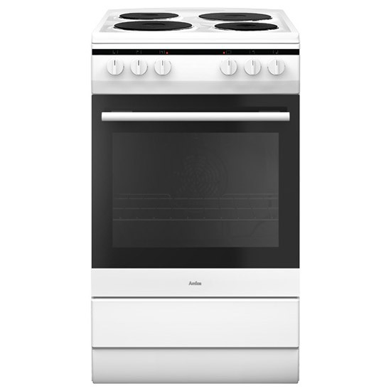 Amica 508EE1W Whi Electric Cooker