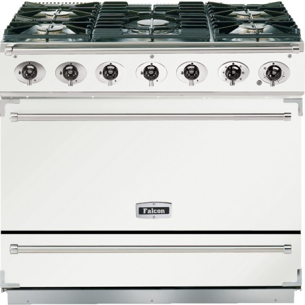 Falcon 900S DF White Nickel 87480 Dual Fuel Range Cooker