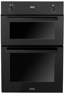 Stoves SGB900PS Blk Double Oven Gas