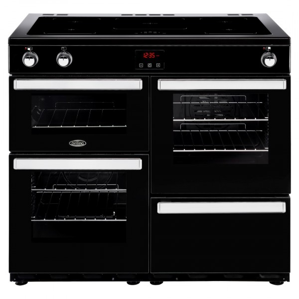 Belling Cookcentre 100Ei Blk Electric Range Cooker