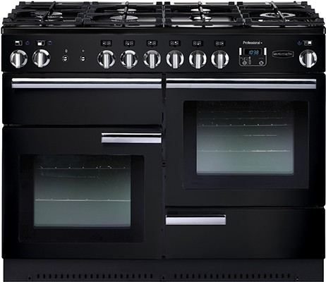 Rangemaster Professional Plus 110DF Black 91680 Dual Fuel Range Cooker