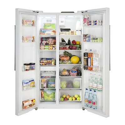 LEC AFF90185 WHITE American Style Fridge Freezer