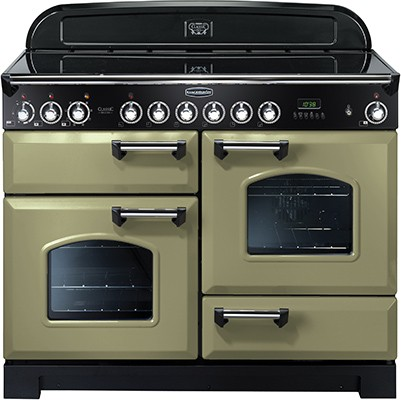 Rangemaster Classic Deluxe 110CER Olive Green 100940 Electric Range Cooker