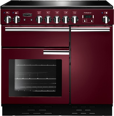 Rangemaster Professional Plus 90IND Cranberry 91740 Electric Range Cooker