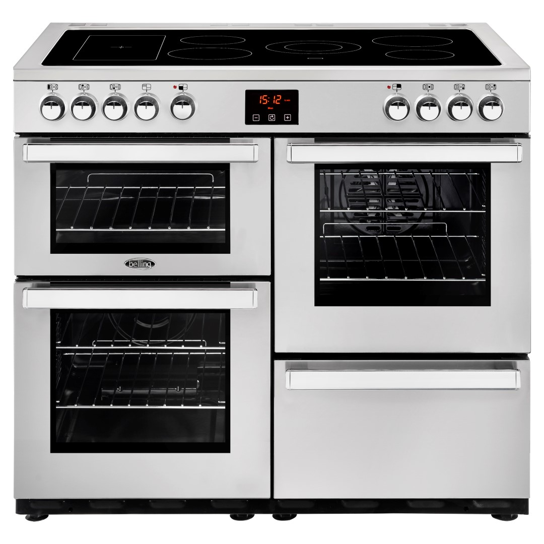 belling cookcentre 100e ss professional electric range cooker rh stellisonselectrical co uk
